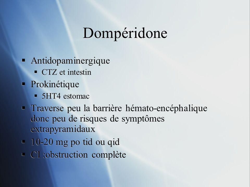 Dompéridone Antidopaminergique Prokinétique
