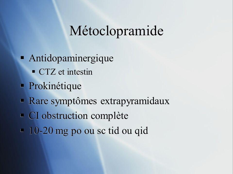 Métoclopramide Antidopaminergique Prokinétique
