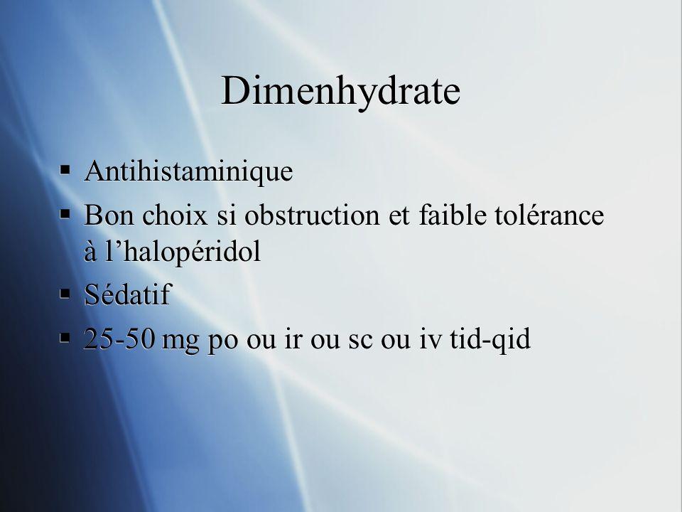 Dimenhydrate Antihistaminique