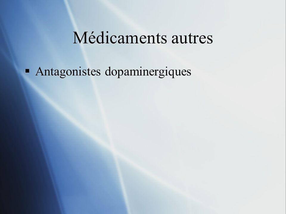 Médicaments autres Antagonistes dopaminergiques