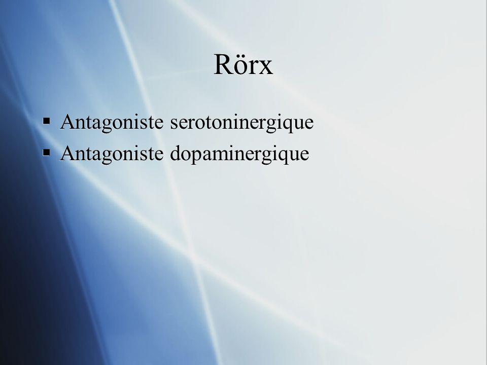 Rörx Antagoniste serotoninergique Antagoniste dopaminergique