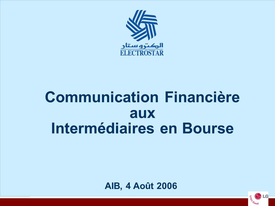 Communication Financière aux Intermédiaires en Bourse