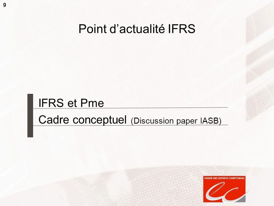 Point d'actualité IFRS