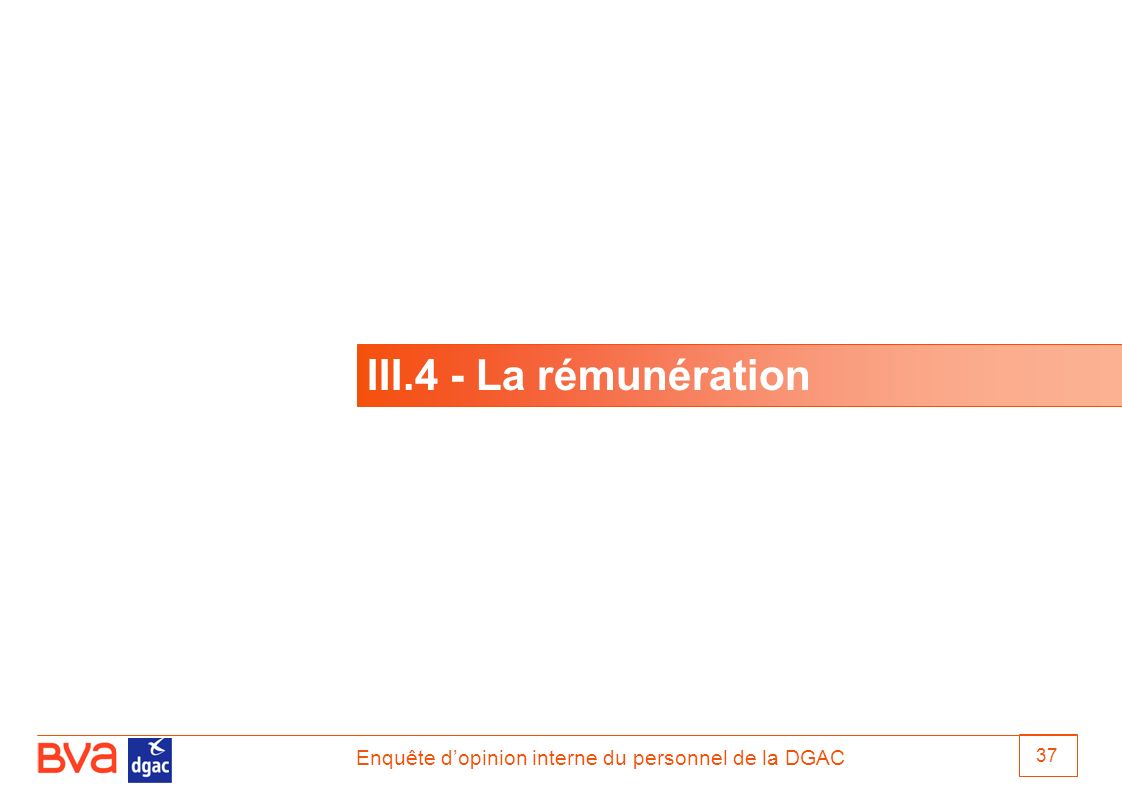 III.4 - La rémunération