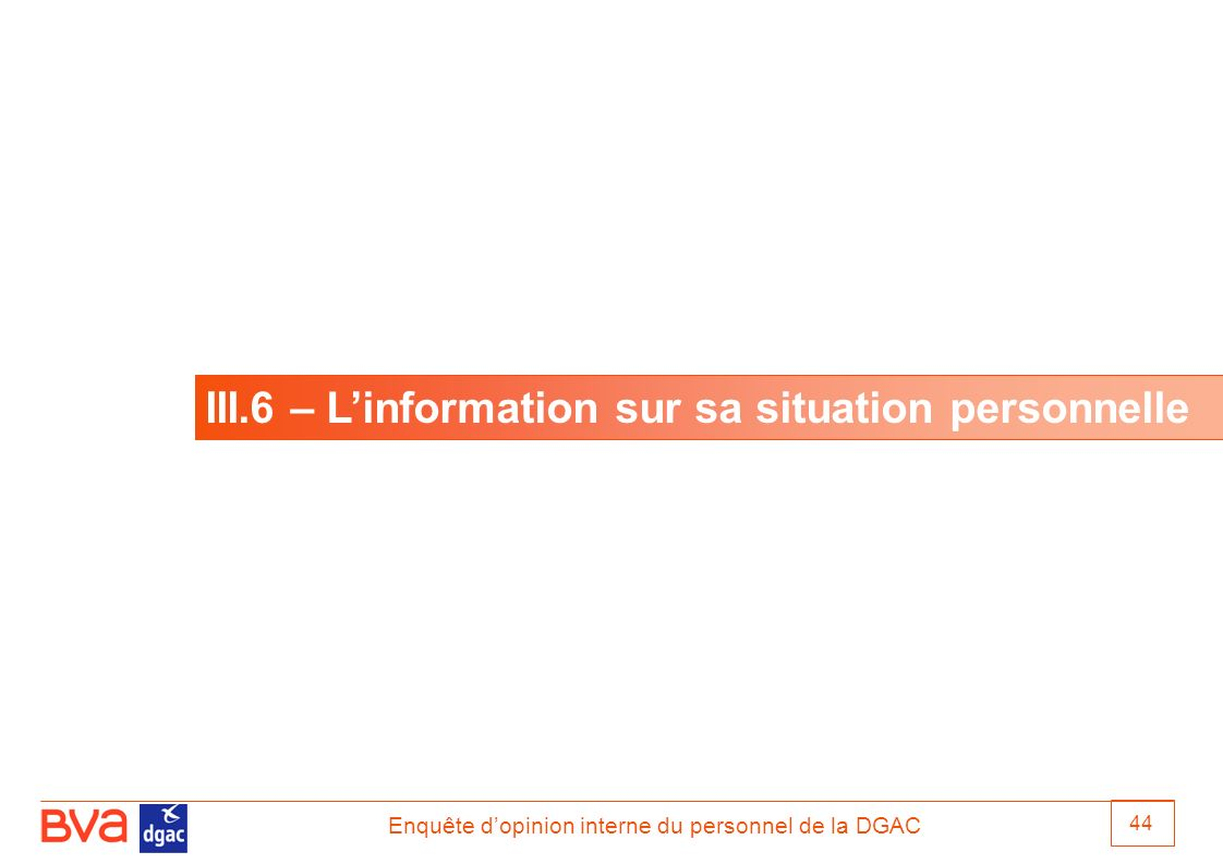 III.6 – L'information sur sa situation personnelle