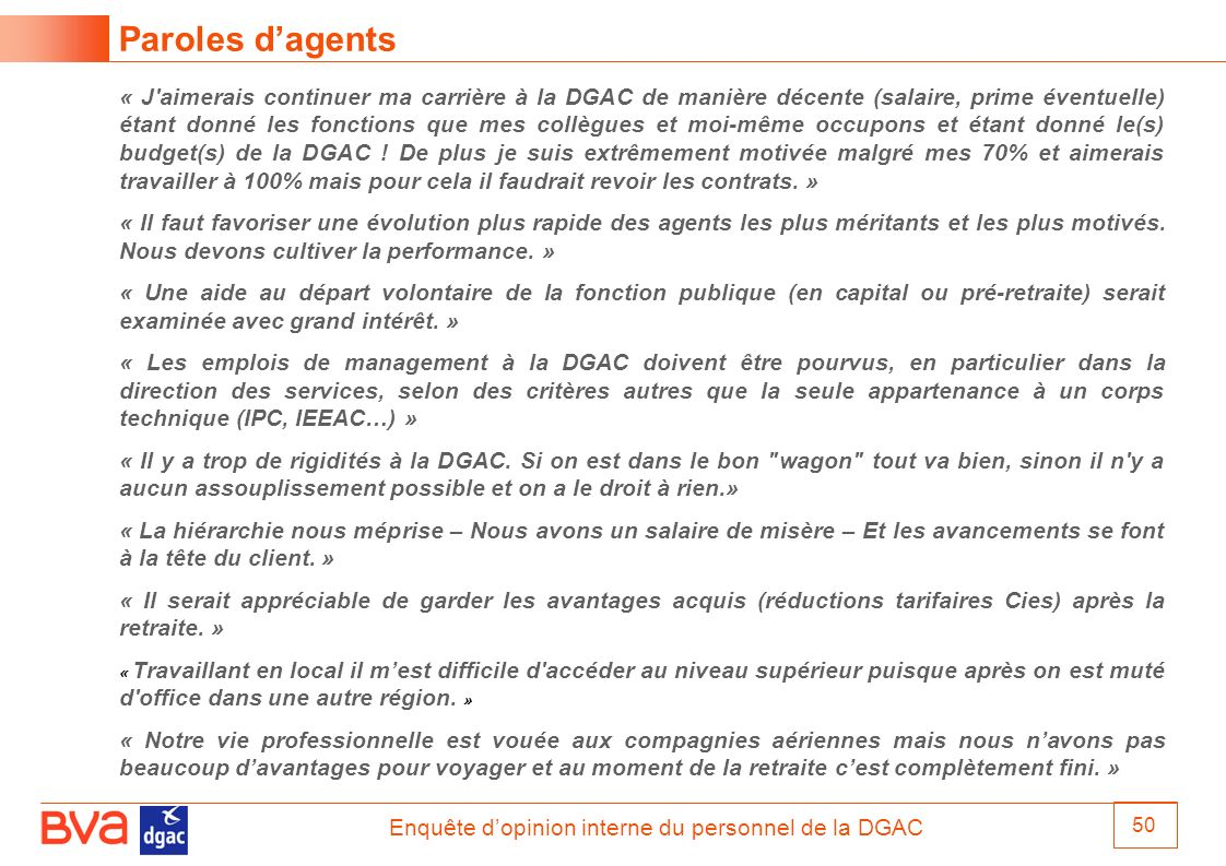 Paroles d'agents
