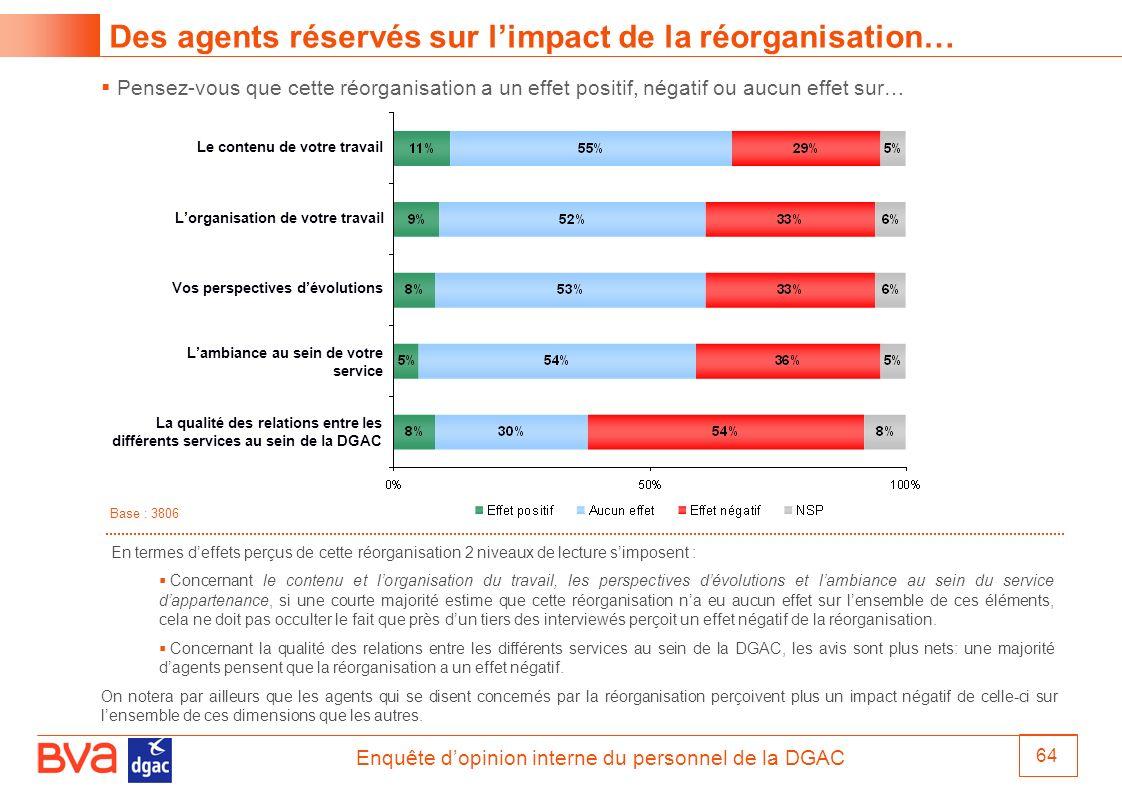 Des agents réservés sur l'impact de la réorganisation…