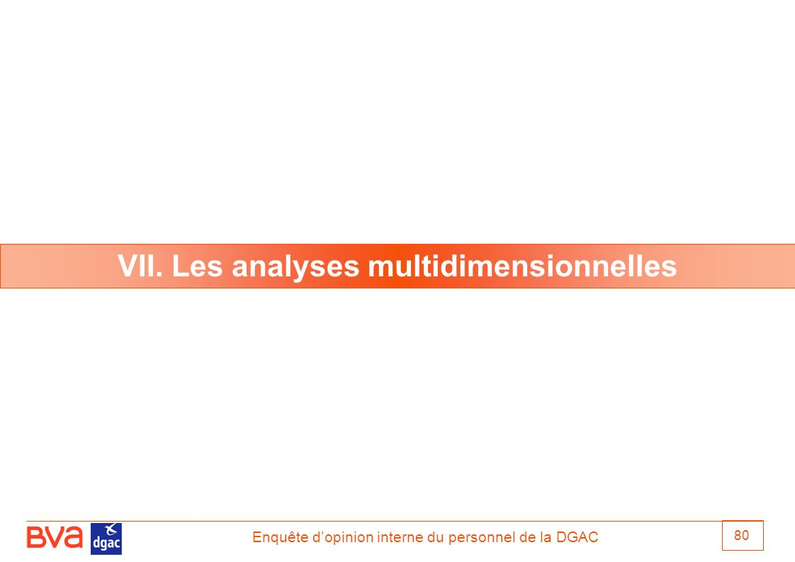 VII. Les analyses multidimensionnelles