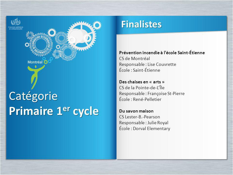 Catégorie Primaire 1er cycle Finalistes