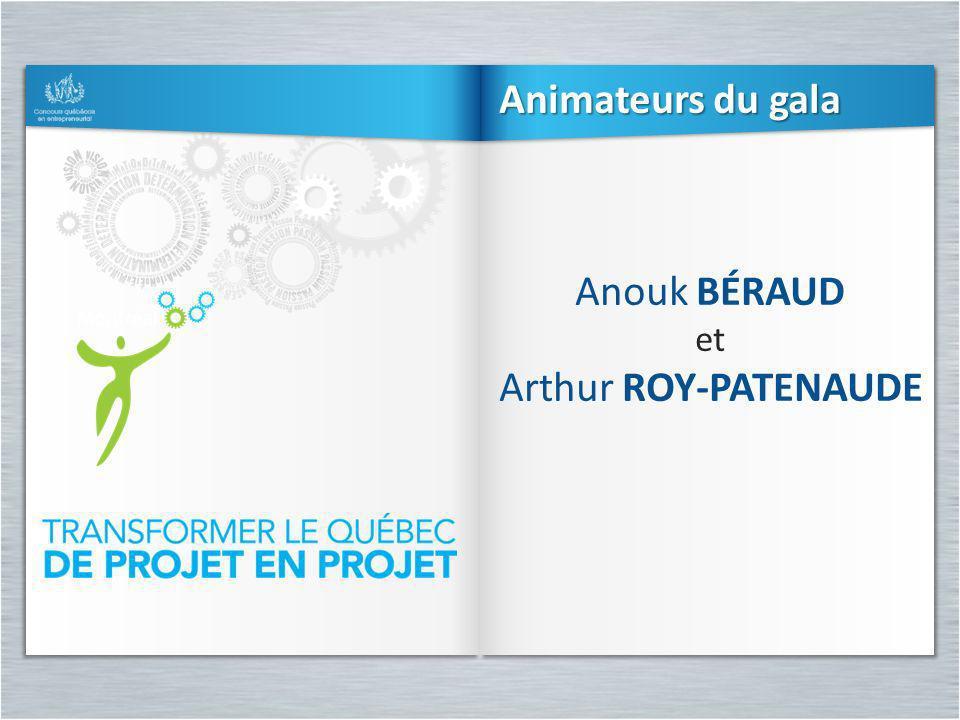 Animateurs du gala Anouk Béraud et Arthur Roy-Patenaude