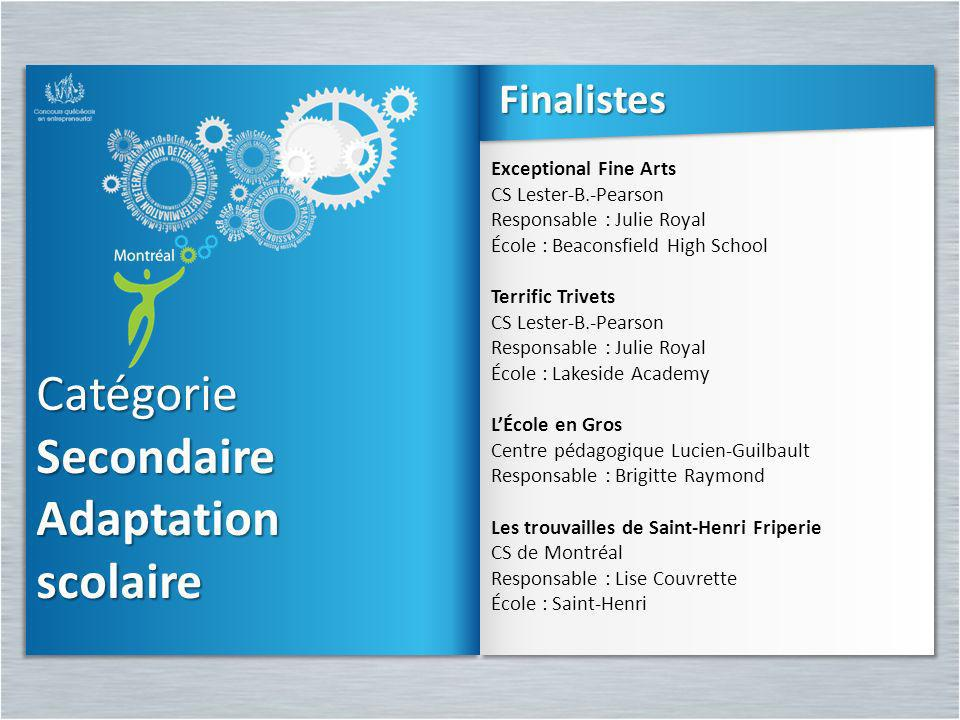 Secondaire Adaptation scolaire