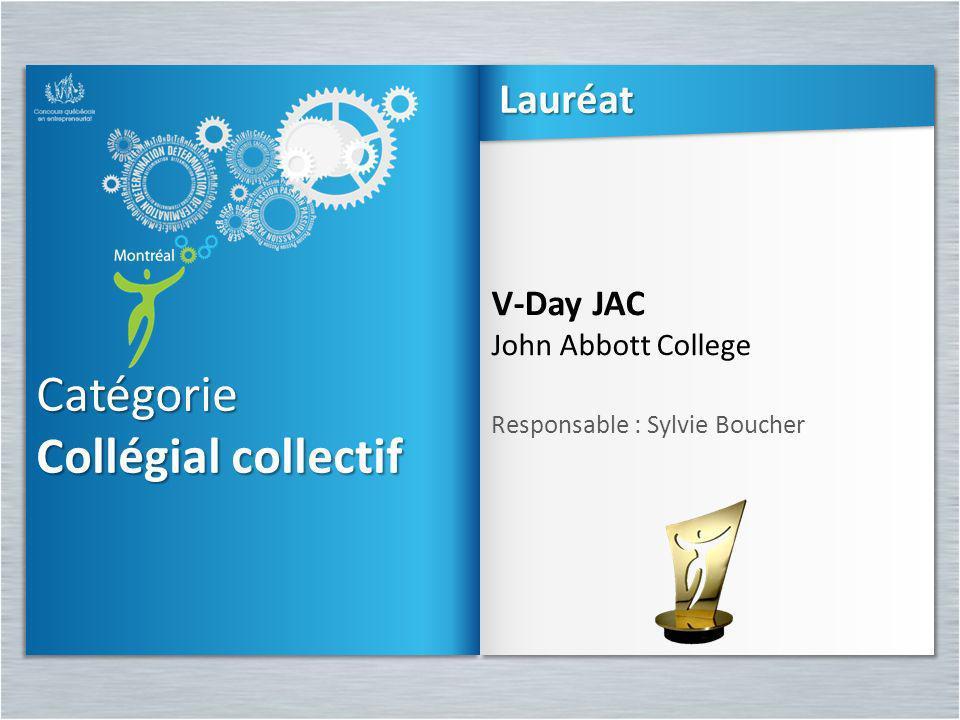 Catégorie Collégial collectif Lauréat V-Day JAC John Abbott College