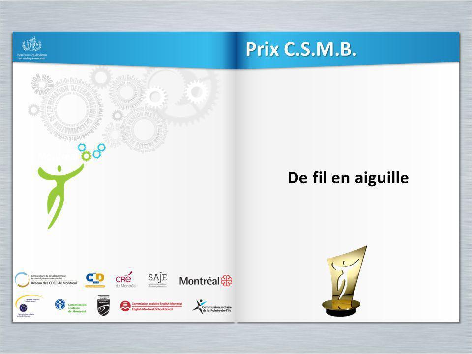Prix C.S.M.B. De fil en aiguille
