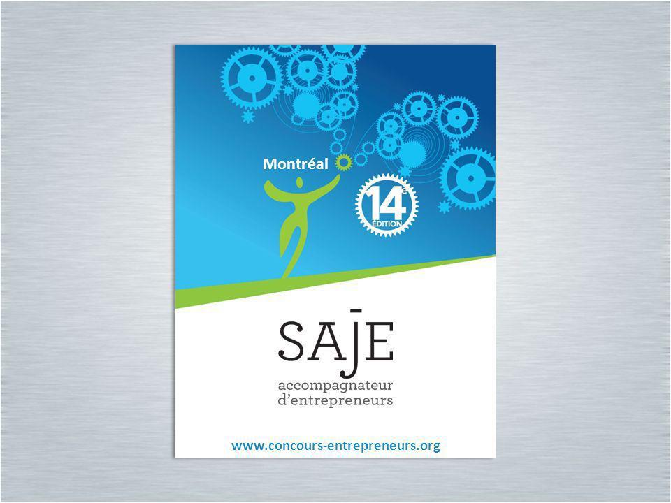Montréal Montréal www.concours-entrepreneurs.org