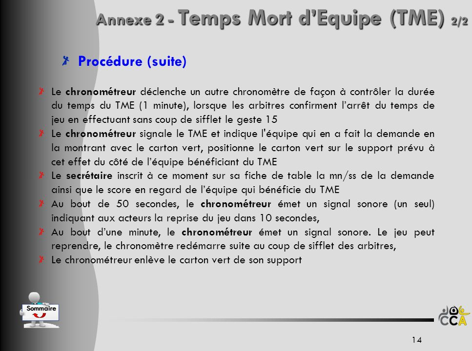 Annexe 2 - Temps Mort d'Equipe (TME) 2/2