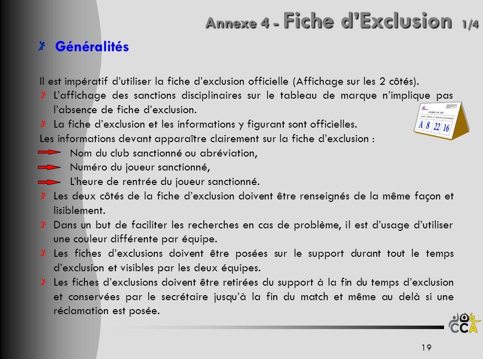 Annexe 4 - Fiche d'Exclusion 1/4