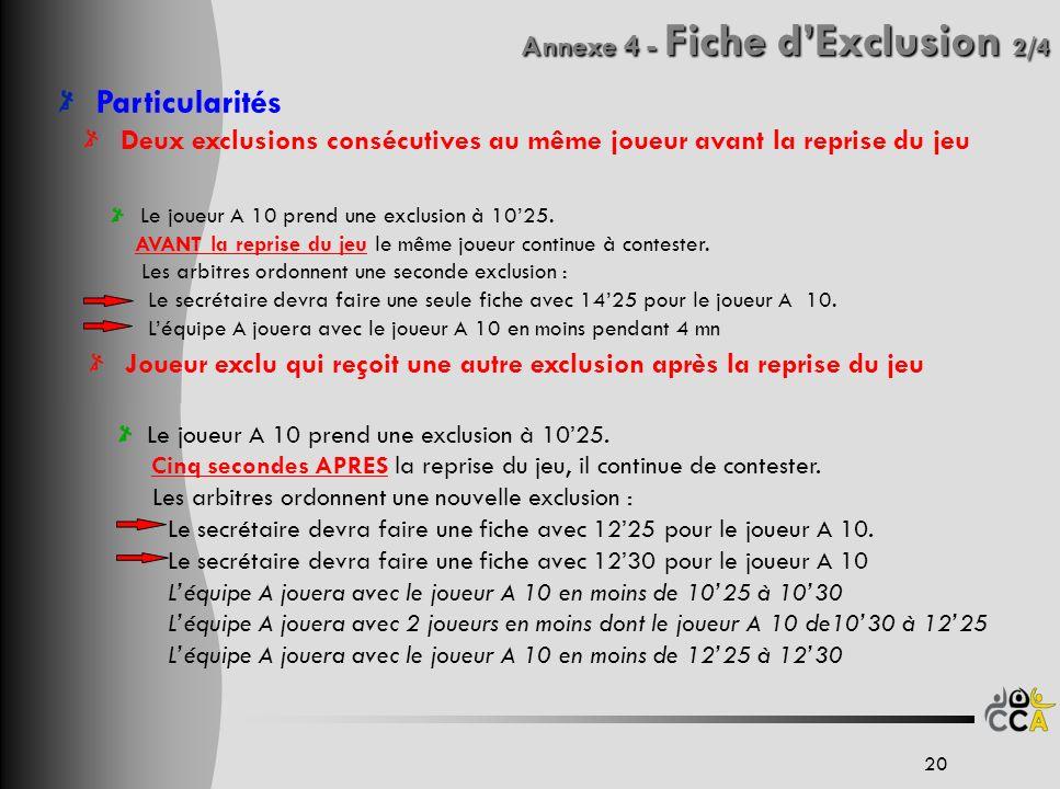 Annexe 4 - Fiche d'Exclusion 2/4