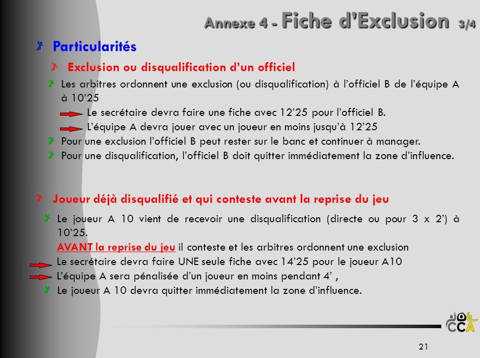 Annexe 4 - Fiche d'Exclusion 3/4