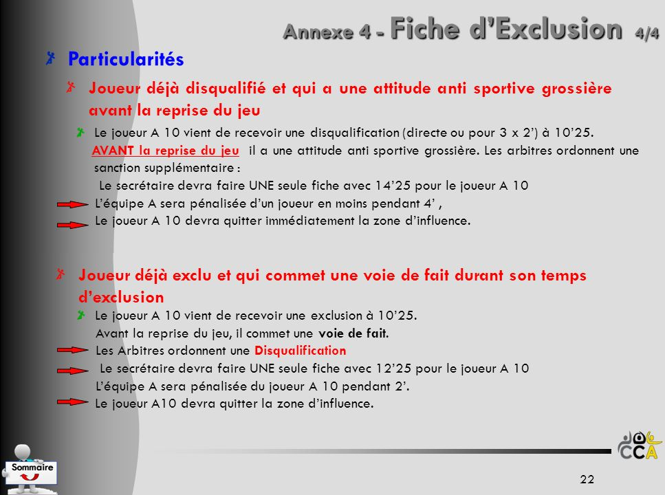 Annexe 4 - Fiche d'Exclusion 4/4