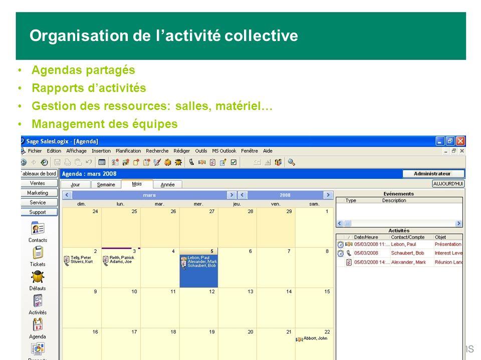 Organisation de l'activité collective