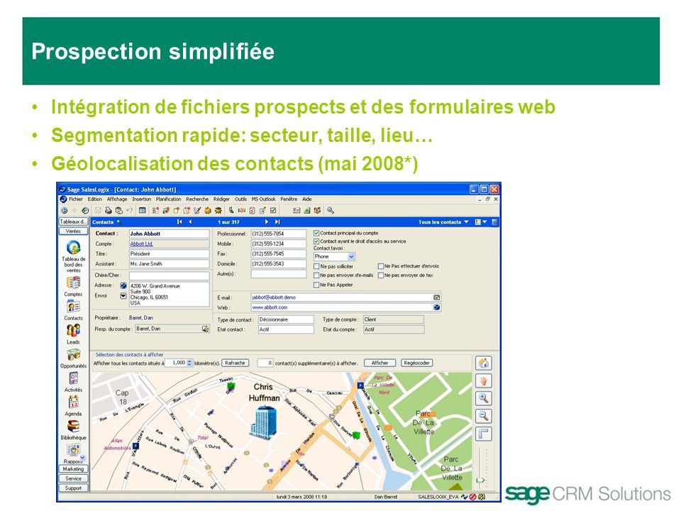 Prospection simplifiée