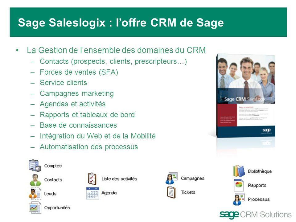 Sage Saleslogix : l'offre CRM de Sage