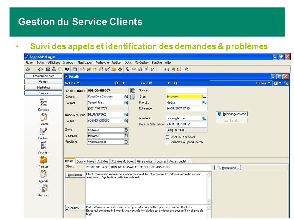 Gestion du Service Clients
