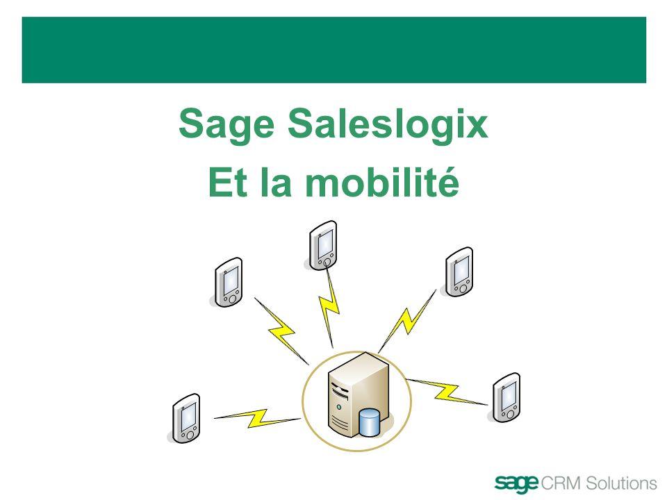 Sage Saleslogix Et la mobilité