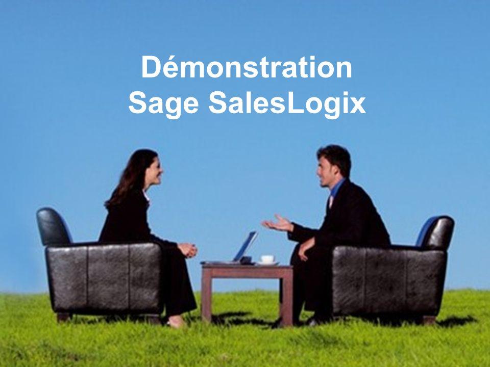 Démonstration Sage SalesLogix