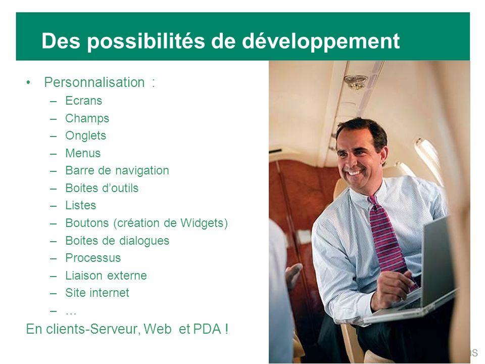 Des possibilités de développement