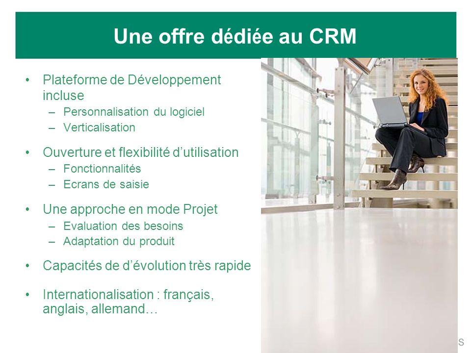 Une offre dédiée au CRM Plateforme de Développement incluse