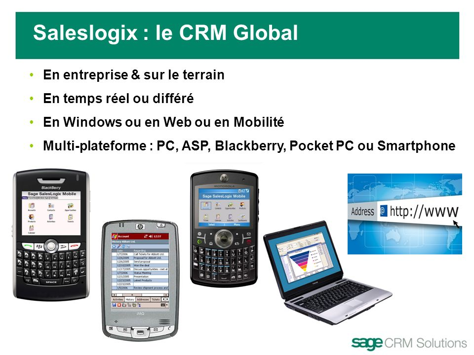 Saleslogix : le CRM Global