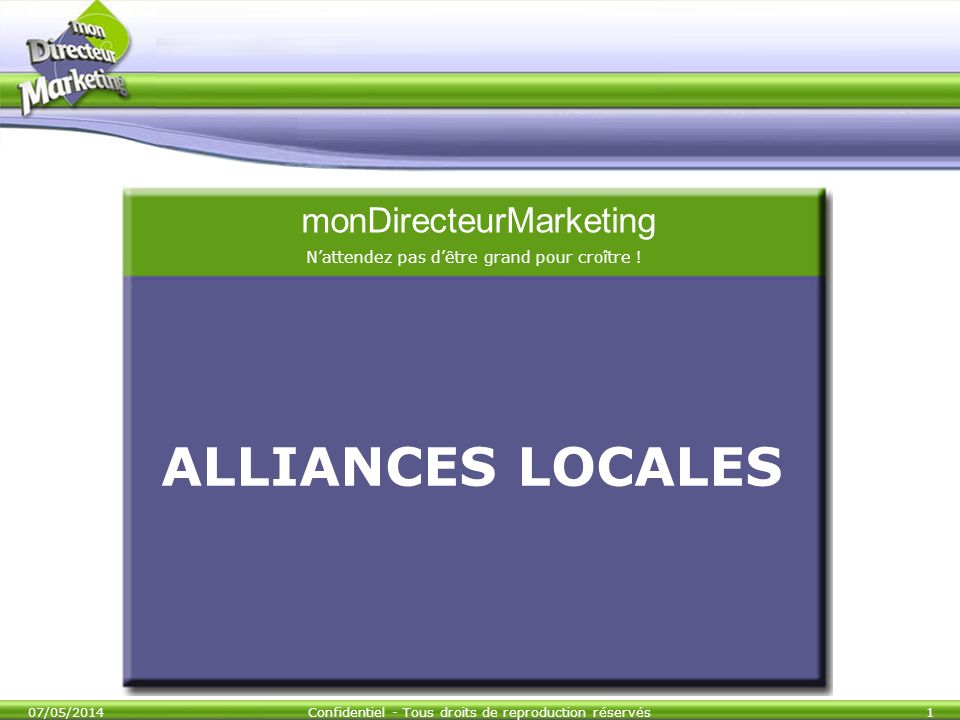 ALLIANCES LOCALES monDirecteurMarketing