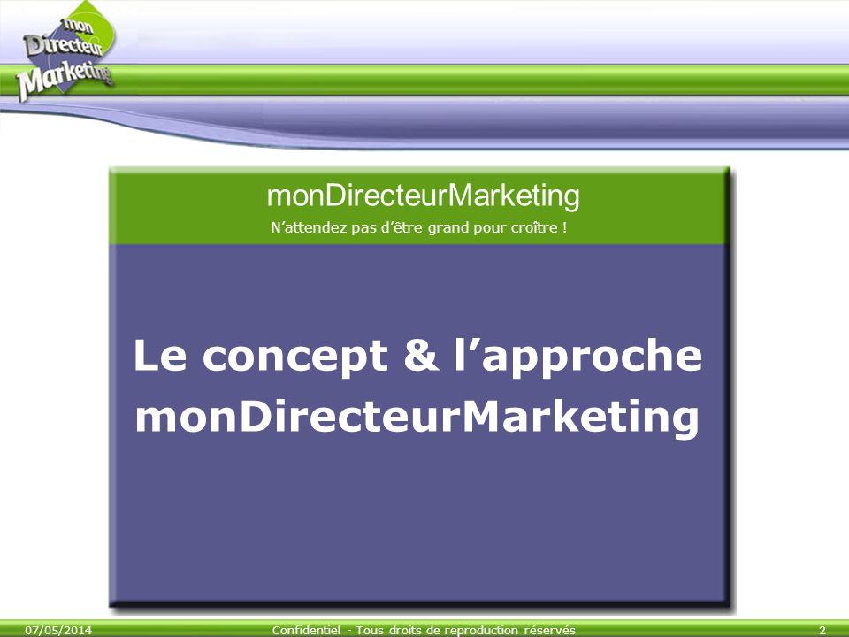 Le concept & l'approche monDirecteurMarketing