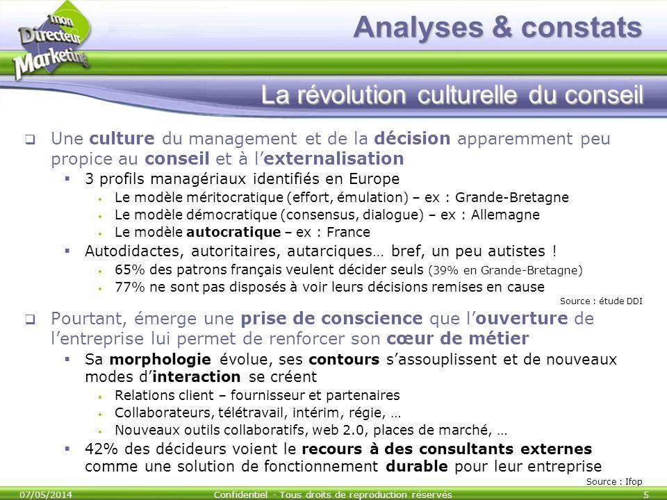 Analyses & constats La révolution culturelle du conseil