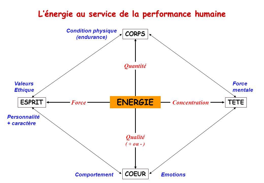 L'énergie au service de la performance humaine