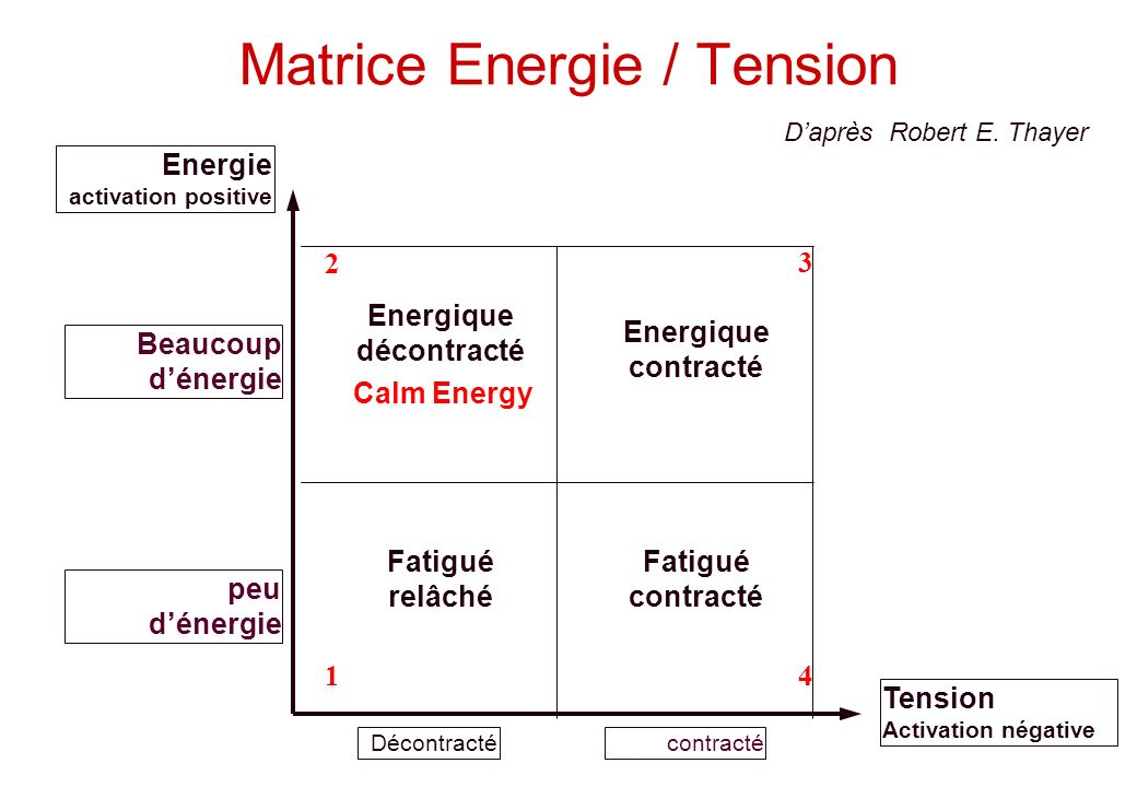 Matrice Energie / Tension
