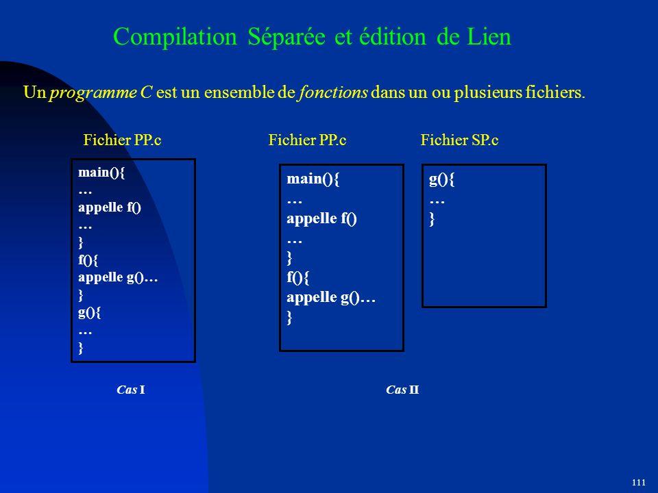 Compilation Séparée et édition de Lien