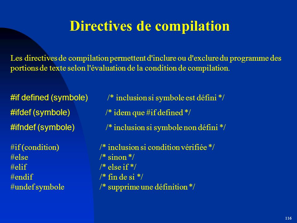 Directives de compilation