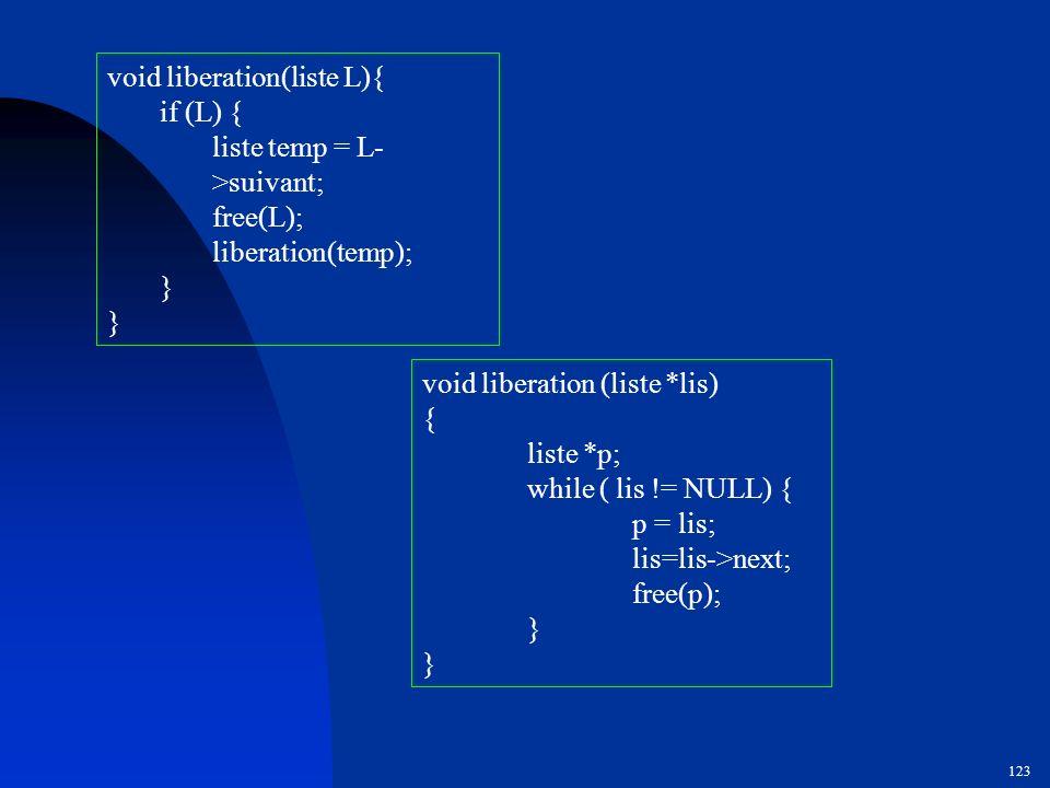 void liberation(liste L){