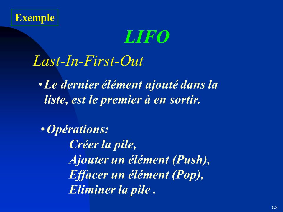 LIFO Last-In-First-Out