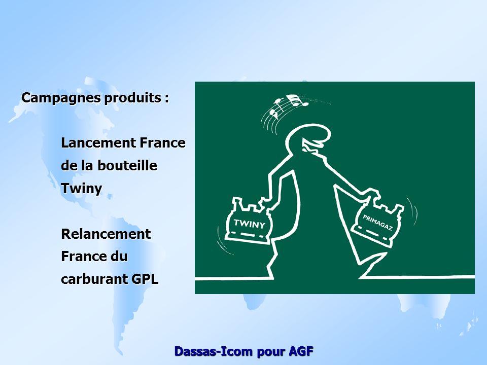 Campagnes produits : Lancement France de la bouteille Twiny Relancement France du carburant GPL