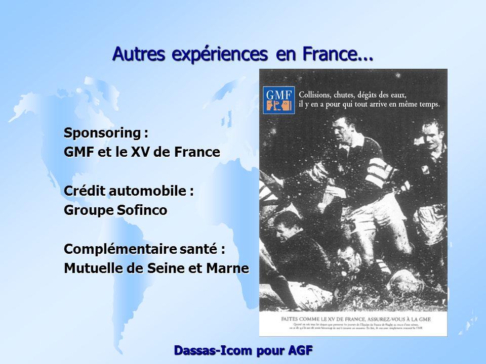 Autres expériences en France...