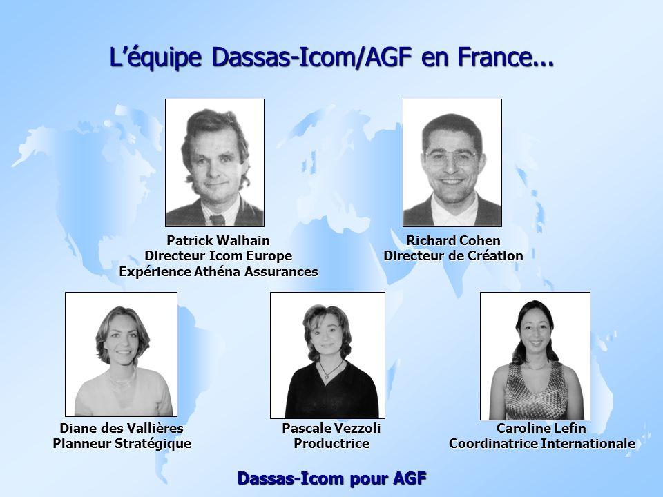 L'équipe Dassas-Icom/AGF en France...