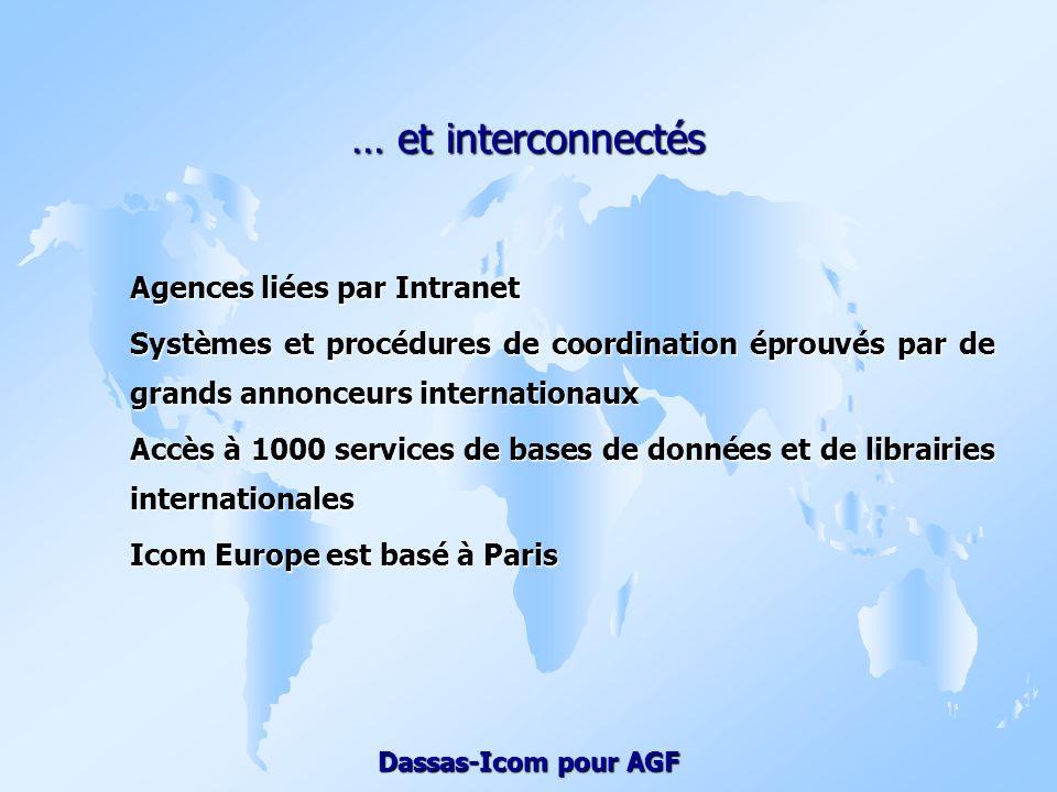 … et interconnectés Agences liées par Intranet