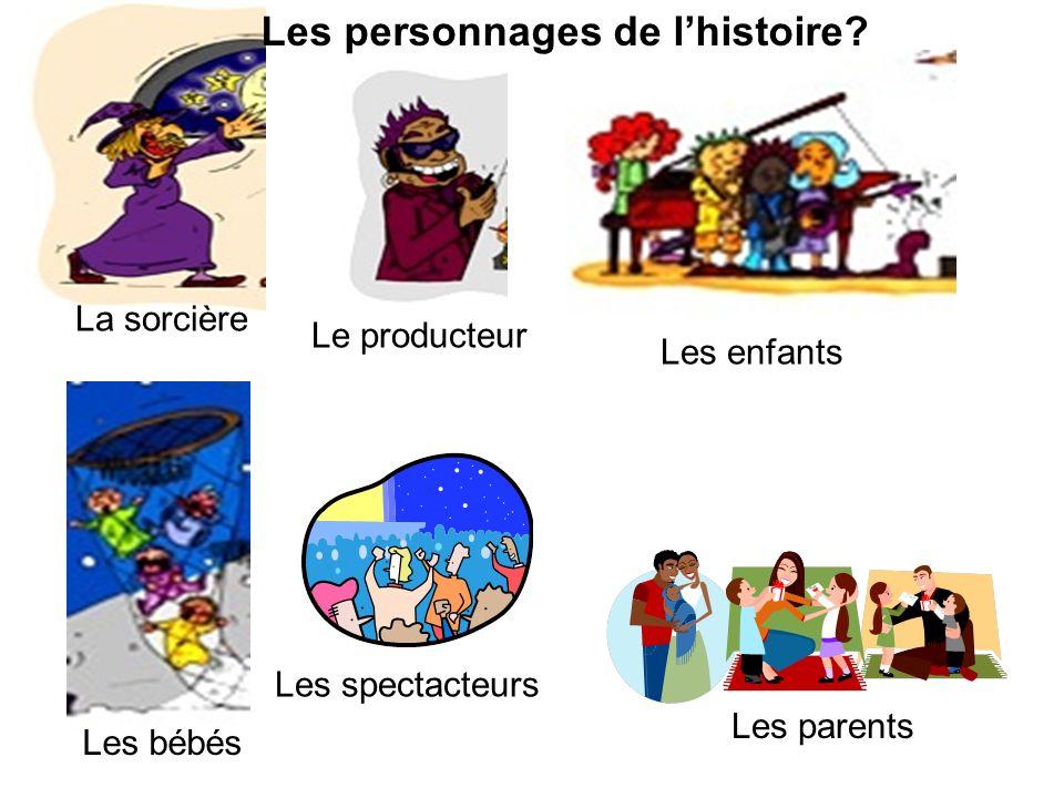 Les personnages de l'histoire