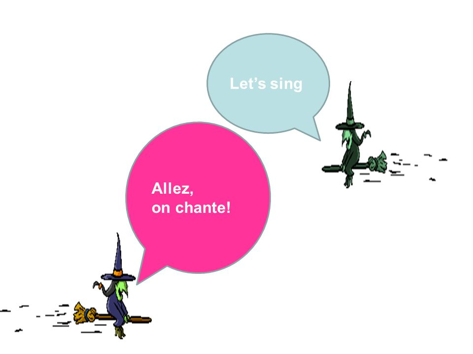 Let's sing Allez, on chante! They discuss the meaning
