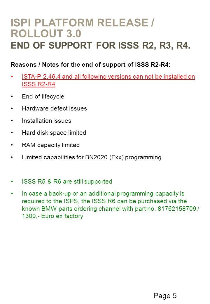 ISPI Platform Release / Rollout 3.0