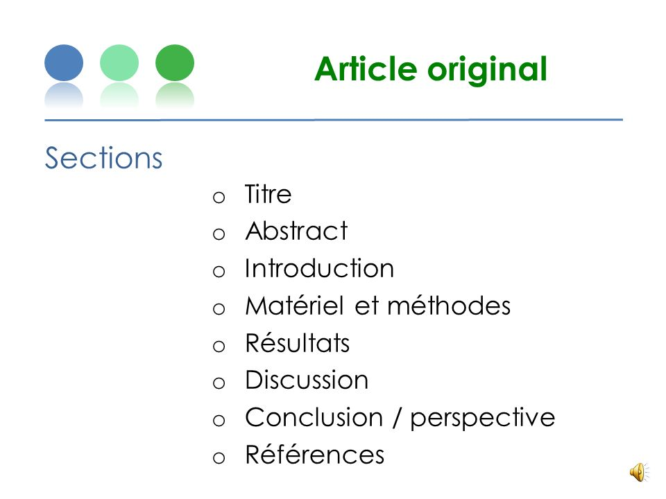 Article original Sections Titre Abstract Introduction