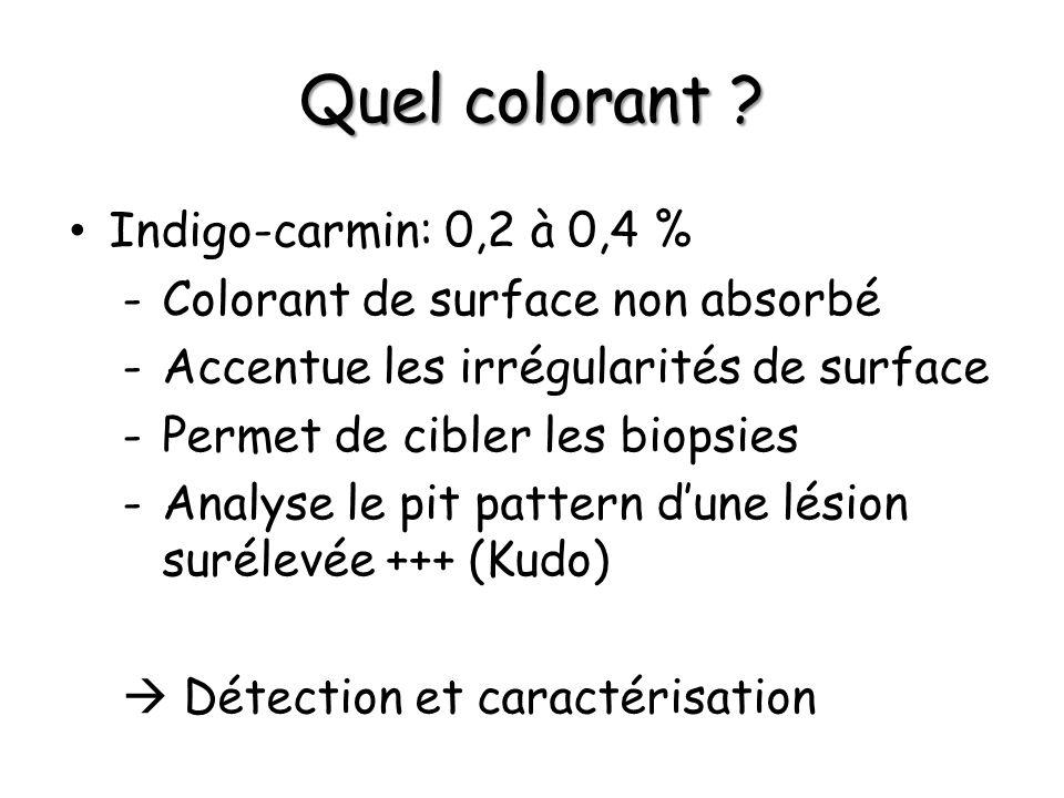 Quel colorant Indigo-carmin: 0,2 à 0,4 %